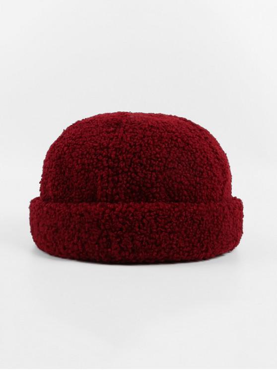 Los corderos de lana de invierno sombrero Escutelaria - Vino Tinto