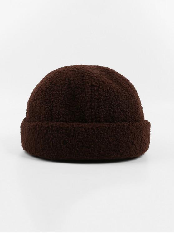 Los corderos de lana de invierno sombrero Escutelaria - Camel Marrón