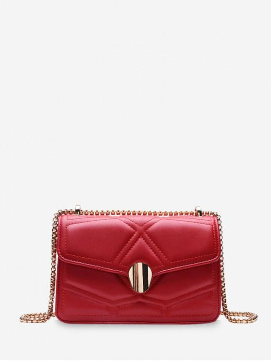 fashion Small Square Chain Shoulder Bag - RED