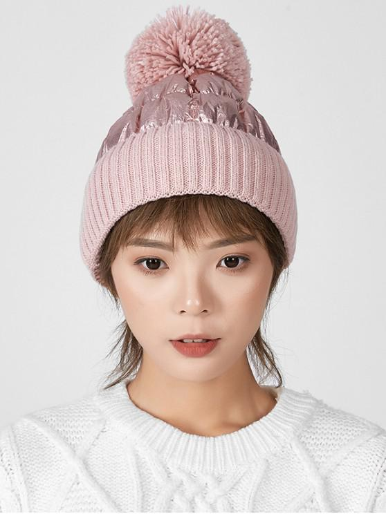 outfit Fuzzy Ball Knitted Winter Hat - PINK