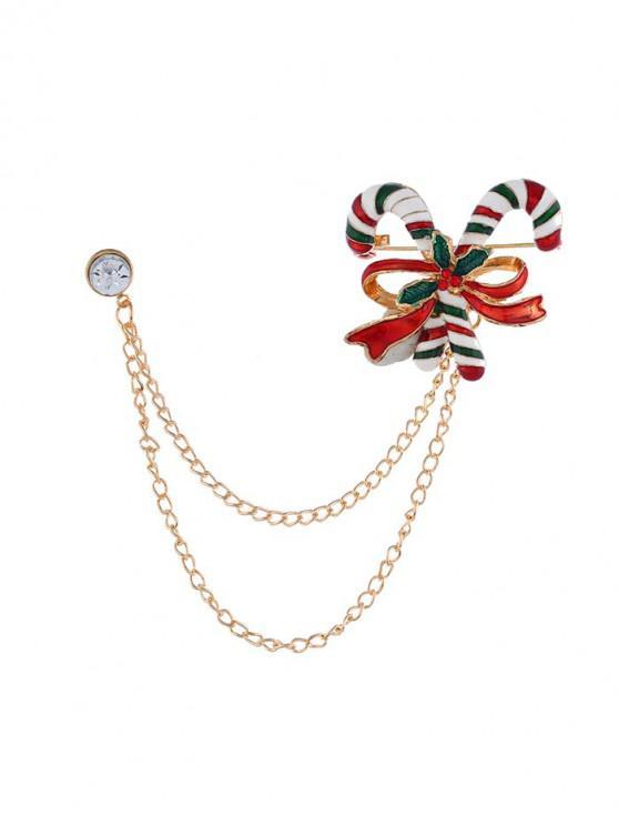 Broche Cadena de Navidad del Bowknot del palillo - Oro
