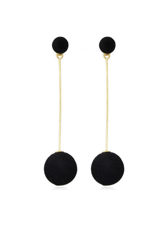 聖誕球模糊時尚耳環 - 黑色