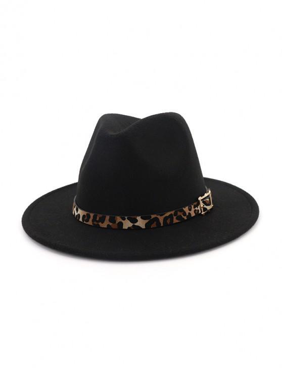 shops Floppy Woolen Jazz Hat - BLACK
