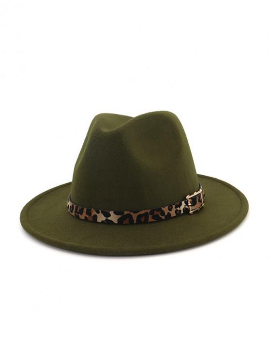 Disquete de lana del jazz del sombrero - Ejercito Verde