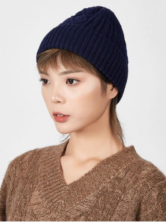 outfit Rhombic Pattern Winter Knitted Hat - CADETBLUE