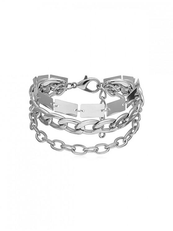 shop Chain Metallic Punk Bracelet - SILVER