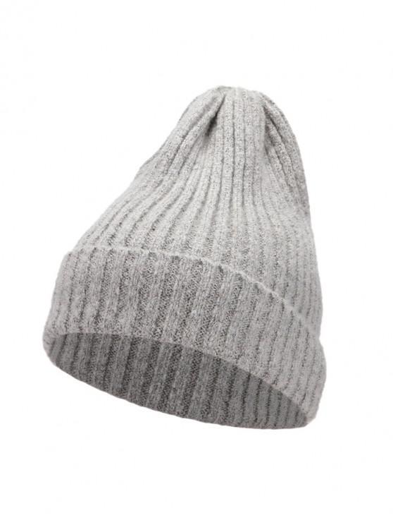 De punto elegante mujeres sombrero de invierno - Gris Claro
