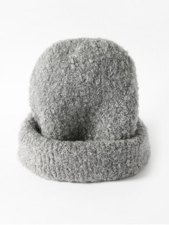 Sólido punto unisex Escutelaria Sombrero - Gris Claro
