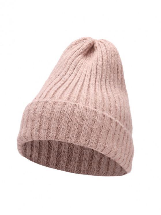 De punto elegante mujeres sombrero de invierno - Rosa Claro
