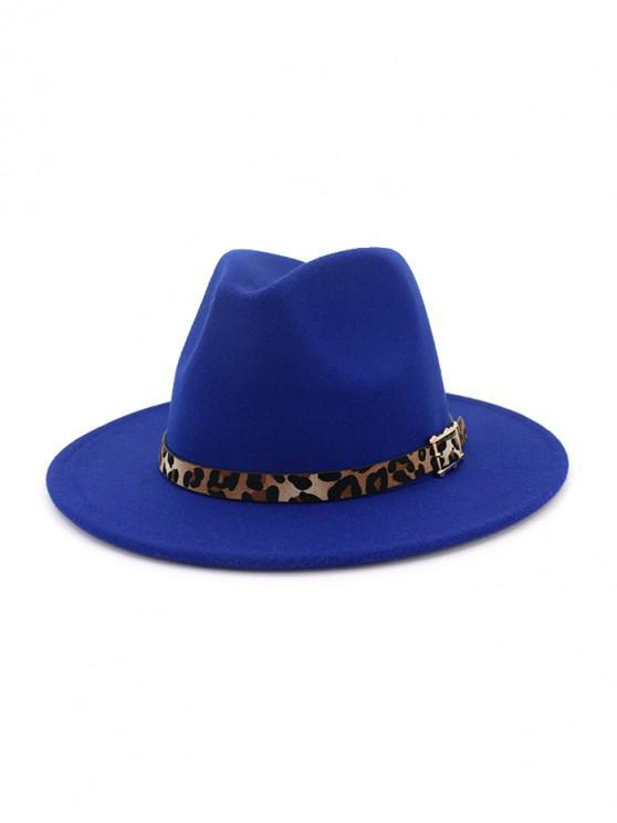 online Floppy Woolen Jazz Hat - BLUE