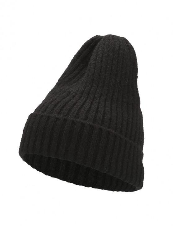 De punto elegante mujeres sombrero de invierno - Negro