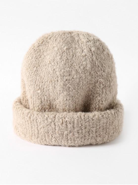 Sólido punto unisex Escutelaria Sombrero - Beige
