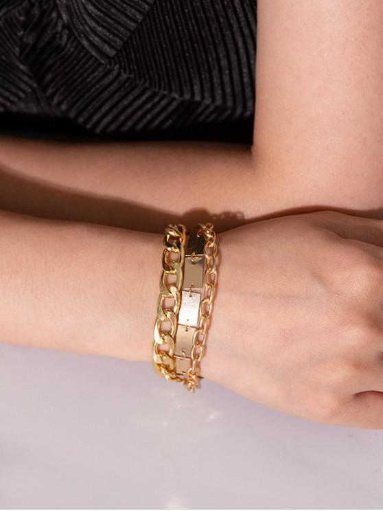 online Chain Metallic Punk Bracelet - GOLD