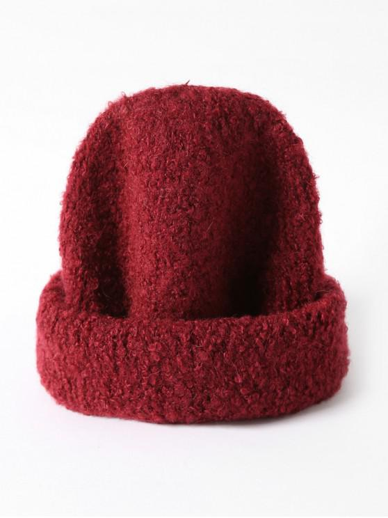 buy Solid Unisex Knitted Skullcap Hat - RED WINE