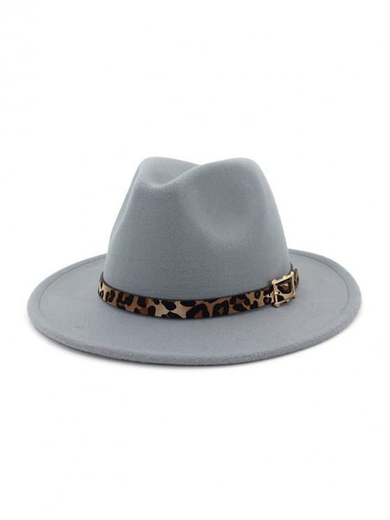 women's Floppy Woolen Jazz Hat - LIGHT GRAY