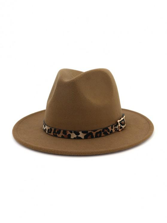 ladies Floppy Woolen Jazz Hat - KHAKI
