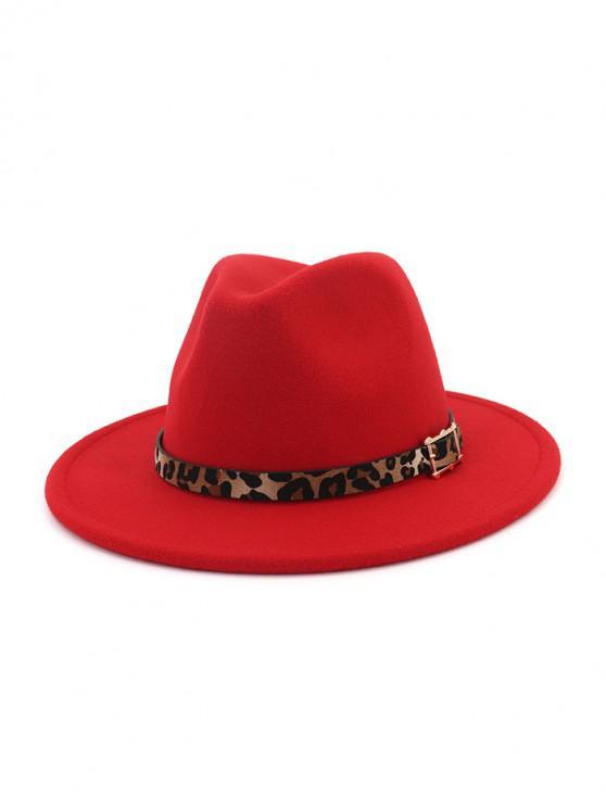 hot Floppy Woolen Jazz Hat - RED