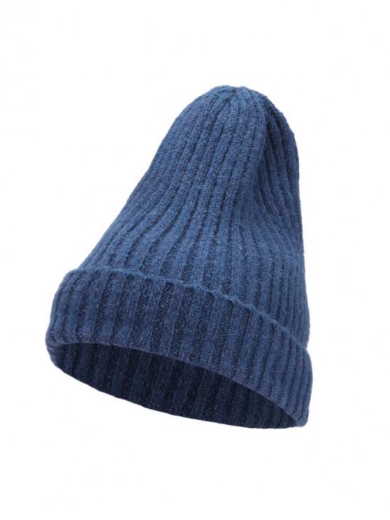 De punto elegante mujeres sombrero de invierno - Azul Eléctrico
