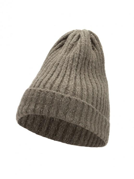 unique Knitted Chic Braid Winter Hat - ARMY GREEN