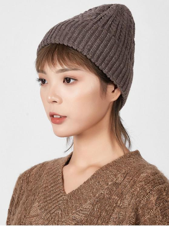 affordable Rhombic Pattern Winter Knitted Hat - KHAKI
