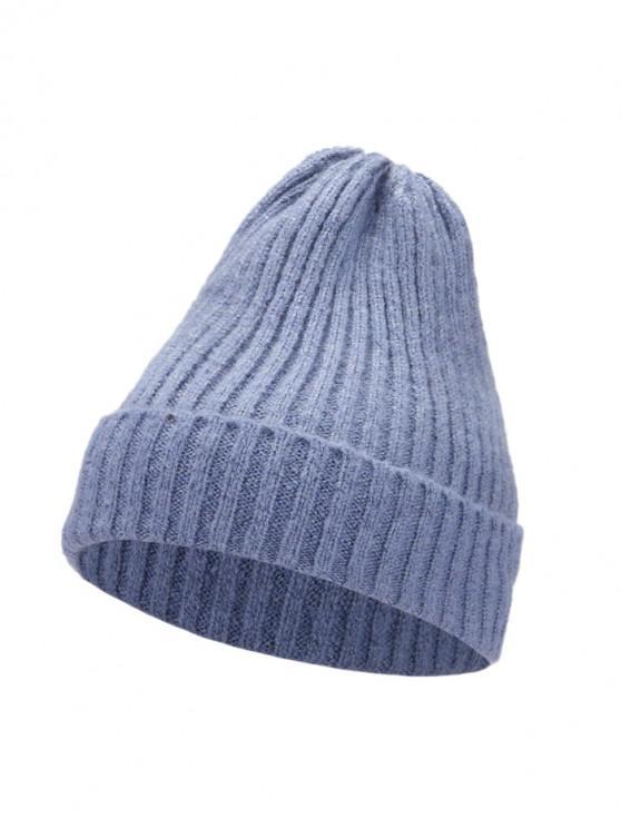 De punto elegante mujeres sombrero de invierno - Azul Claro