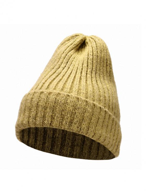 best Knitted Chic Braid Winter Hat - YELLOW