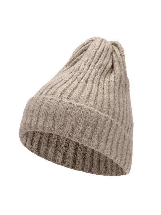 De punto elegante mujeres sombrero de invierno - Camel Marrón