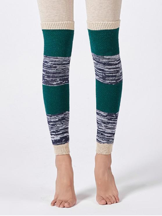 hot Striped Knitted Winter Sleeve Socks - BEIGE