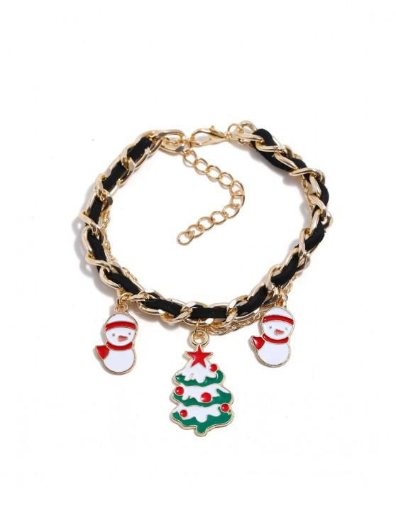 best Christmas Bell Layers Charm Bracelet - GOLD CHRISTMAS TREE
