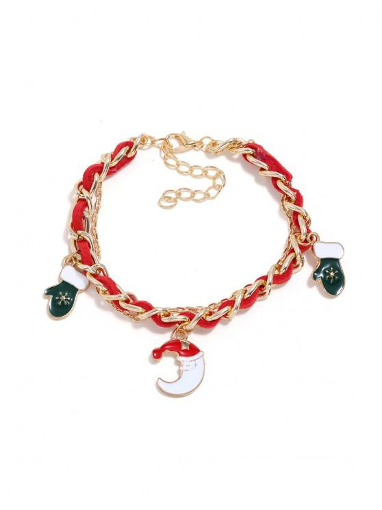 online Christmas Bell Layers Charm Bracelet - GOLD MOON