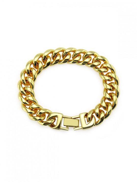 15 mm de ancho Breve pulsera de cadena - Oro