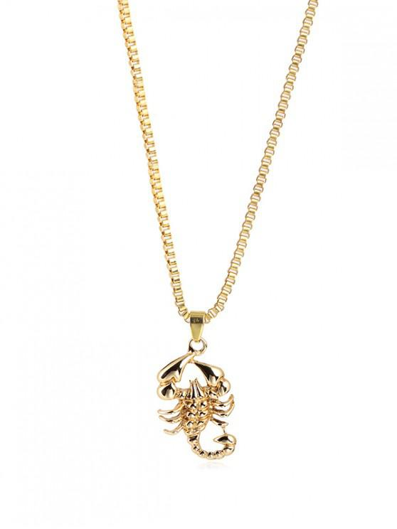 outfit Hip-hop Scorpion Pendant Necklace - GOLD