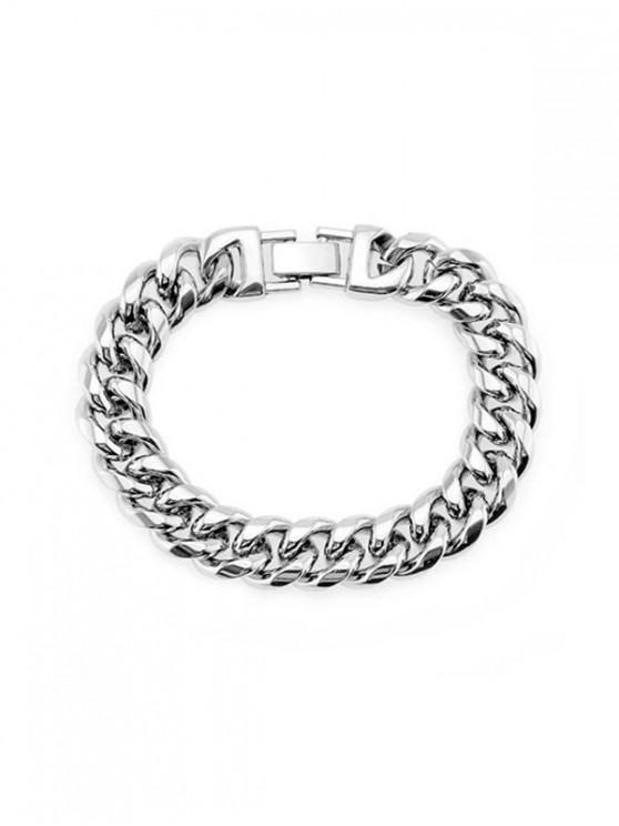 outfits 15mm Brief Wide Chain Bracelet - SILVER