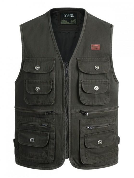 lady Outdoor Multi Pockets Cargo Waistcoat - ARMY GREEN 2XL