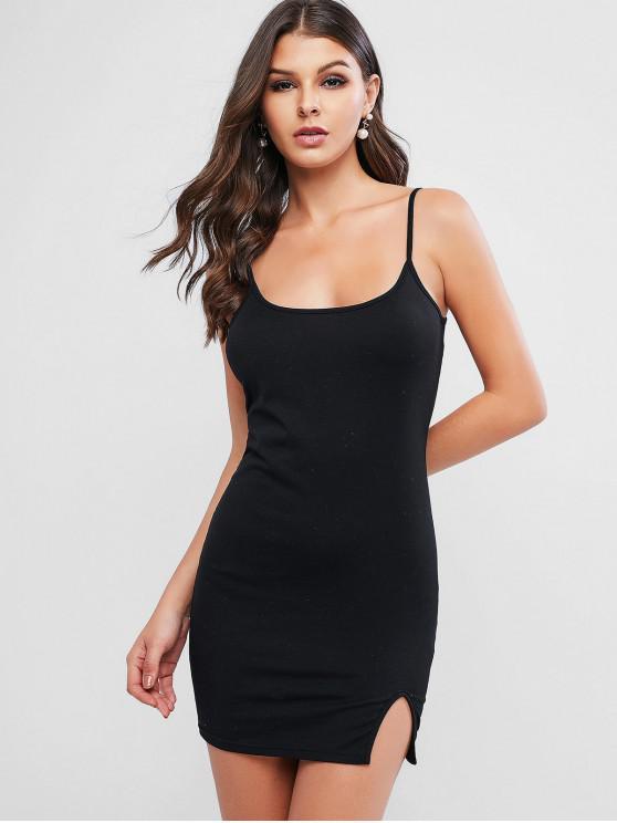 outfit ZAFUL Cami Slit Bodycon Mini Dress - BLACK XL
