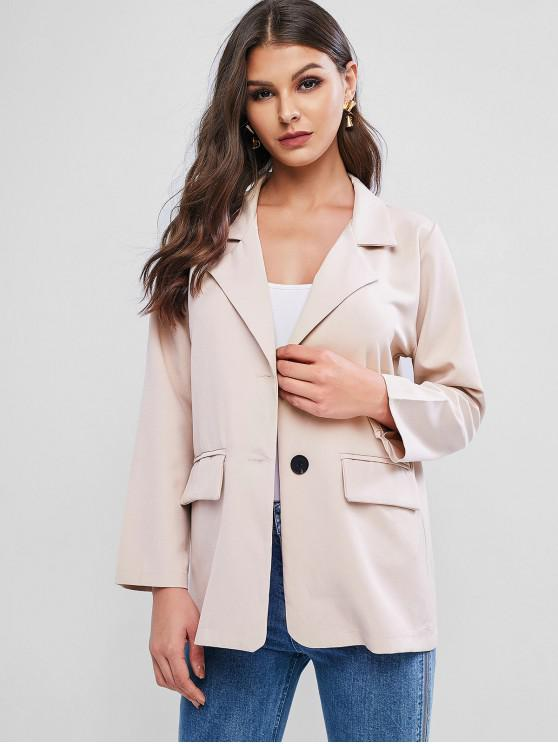 outfits Flap Pocket Basic Blazer - BEIGE ONE SIZE