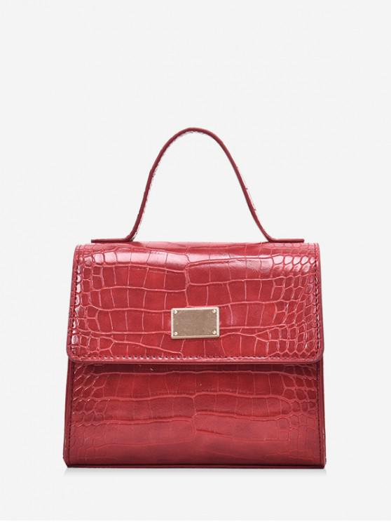 outfits Animal Embossed PU Leather Mini Crossbody Bag - RED