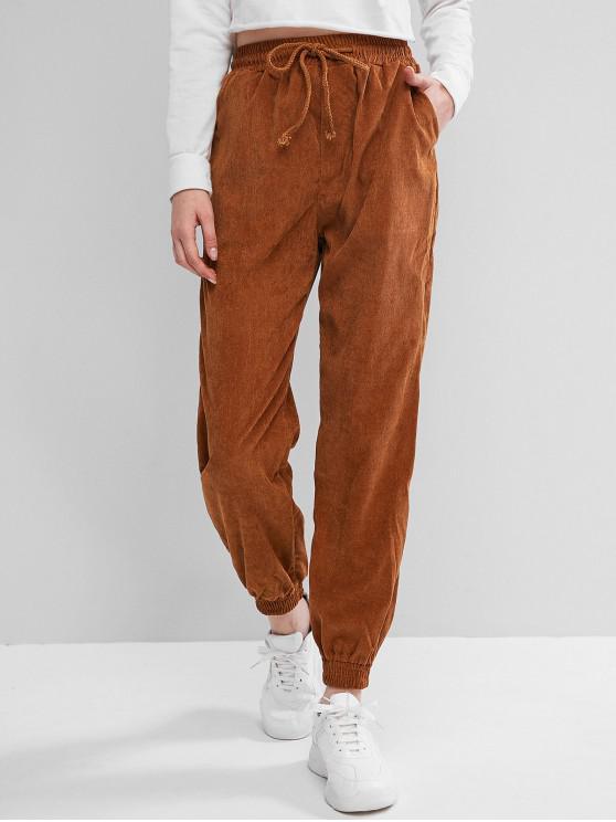 Pantaloni Plain Corduroy jogger - Maro L