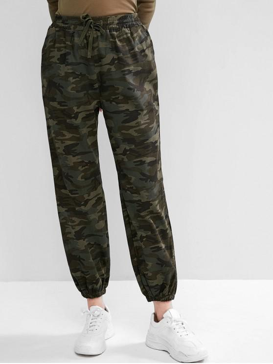 chic Camo Drawstring Pocket Jogger Pants - ACU CAMOUFLAGE XL