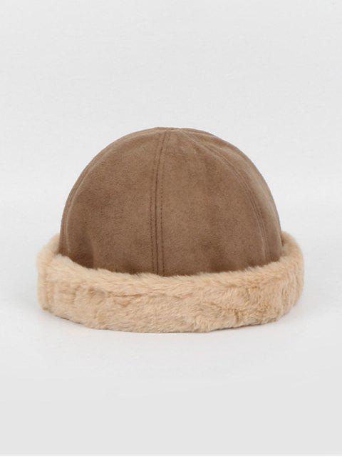 Chapeau d'Hiver en Fausse Fourrure en Daim - Kaki  Mobile