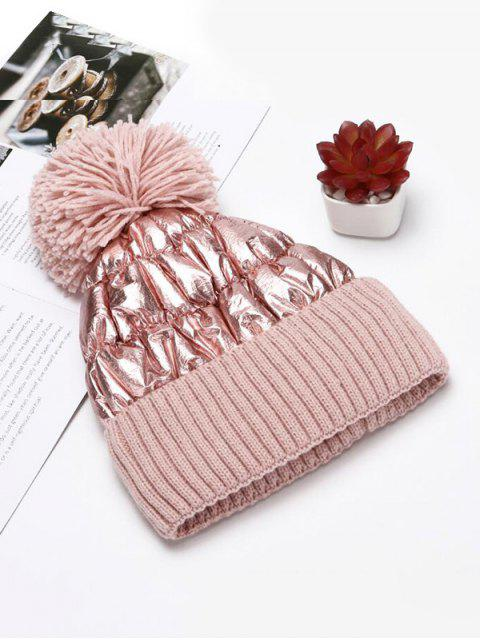 outfit Fuzzy Ball Knitted Winter Hat - PINK  Mobile
