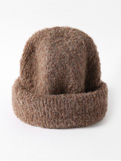 new Solid Unisex Knitted Skullcap Hat - COFFEE  Mobile