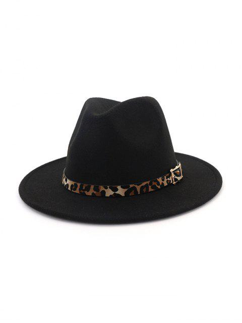 shops Floppy Woolen Jazz Hat - BLACK  Mobile