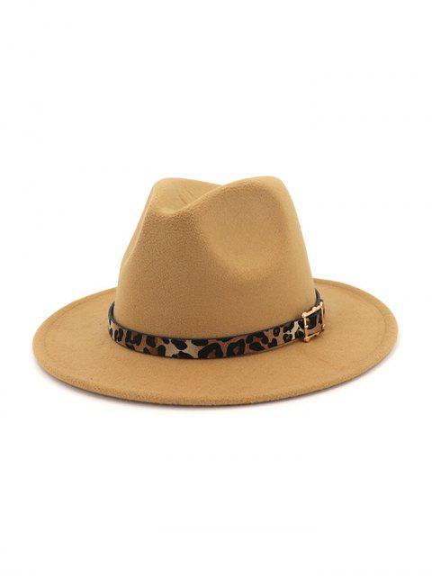 fancy Floppy Woolen Jazz Hat - LIGHT KHAKI  Mobile
