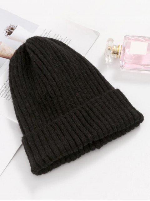 outfits Knitted Chic Braid Winter Hat - BLACK  Mobile