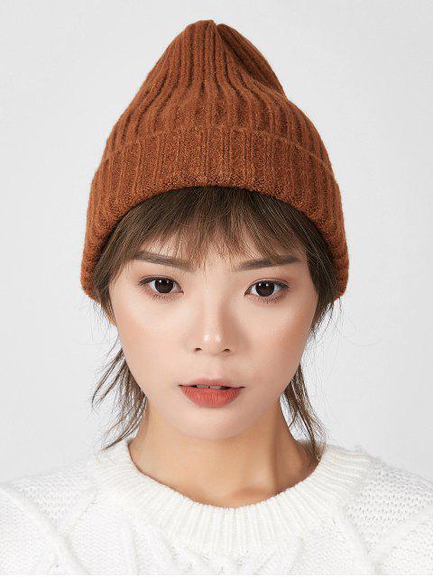 Шик Вязаная Зимняя Шляпа - Карамельный цвет  Mobile