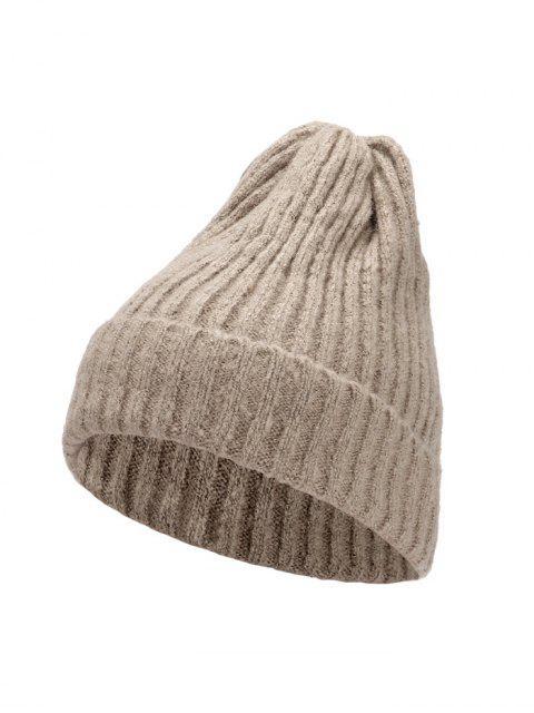 Chapeau d'Hiver Chic Tressé Tricoté - Marron Camel  Mobile