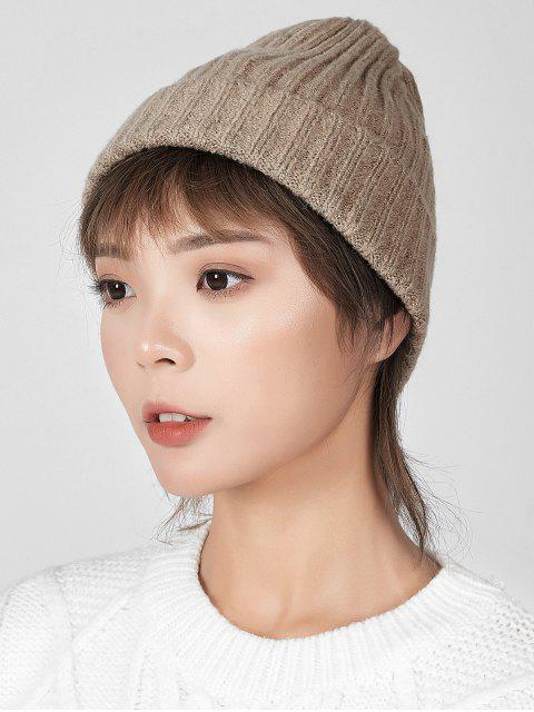 online Knitted Chic Braid Winter Hat - CAMEL BROWN  Mobile