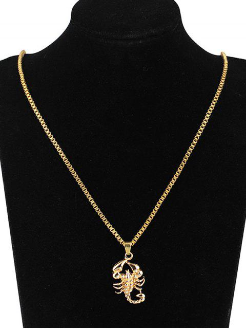 outfit Hip-hop Scorpion Pendant Necklace - GOLD  Mobile