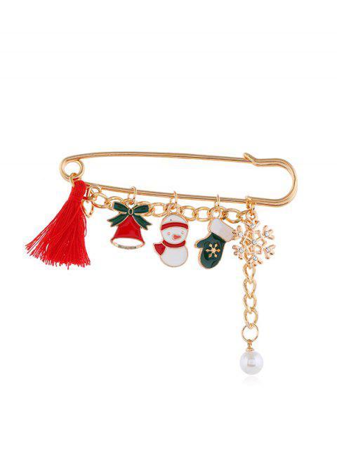 Broche de Noël Pendant à Frange - Or Style3 Mobile